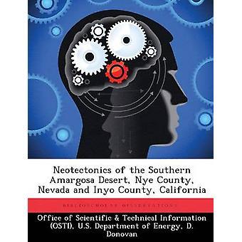 Neotectonics von der südlichen Amargosa Wüste Nye County Nevada und Inyo County Kalifornien vom Amt der wissenschaftlichen & technische Informa