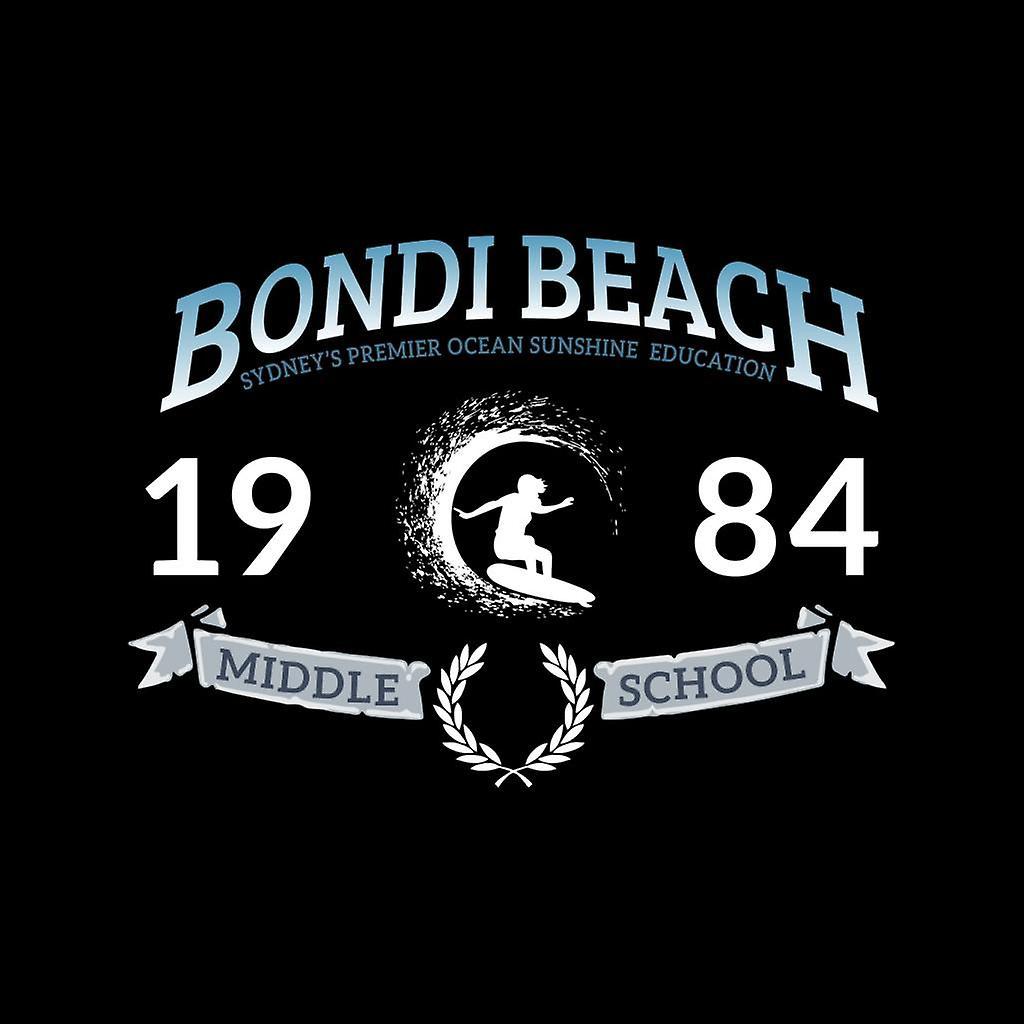 Bondi Beach 1984 Middle School Men's Hooded Sweatshirt
