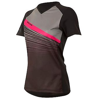 Pearl Izumi Black-Smoked Pearl Fracture Launch Womens Short Sleeved MTB Jersey