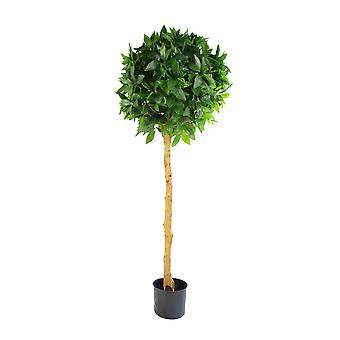 Deluxe Luxury Artificial Bay Leaf Laurel Tree Topiary Ball - 120cm (4ft) Tall