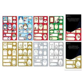 Self Adhesive Traditional Christmas Gift Tags 500 Pack - (SDBP)