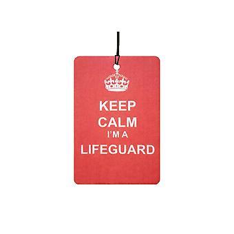 Halten Sie Ruhe, ich bin ein Lifeguard-Auto-Lufterfrischer