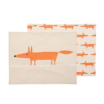 Scion Mr Fox Set of 4 Cotton Placemats, Stone