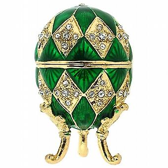 Juliana Green Treasured Trinket Faberge-Style Egg Jewellery Box
