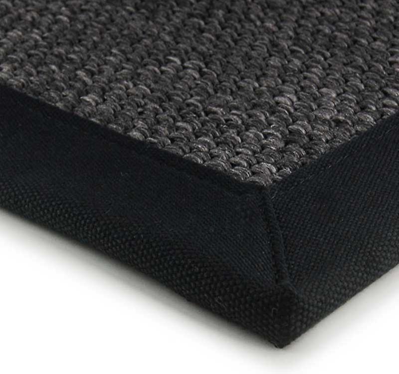 tapis jute super noir fruugo. Black Bedroom Furniture Sets. Home Design Ideas