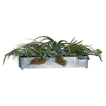 Hill Interiors Artificial Airplant & Greenery Tray