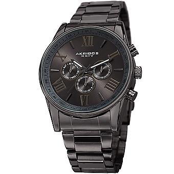 Akribos XXIV Men es AK736 Quartz Multifunktion Stainless Steel Braclet Watch AK736GN