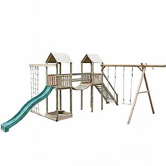 Action Arundel Twin Tower Wooden Climbing Frame & Swings