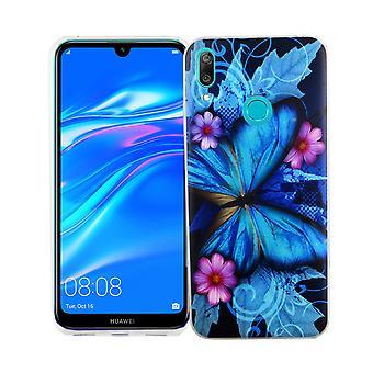 Huawei Y7 2019 King Shop teléfono funda protección funda Funda parachoques mariposa azul