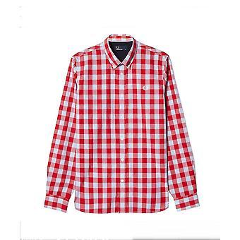Fred Perry Tartan Gingham Mix Men's Long Sleeve Shirt M8274-956