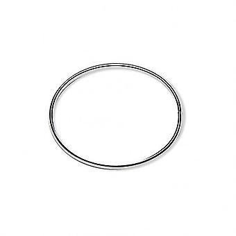 Arm band Jonc silver 60mm Wire 6x3mm öppning på sidan