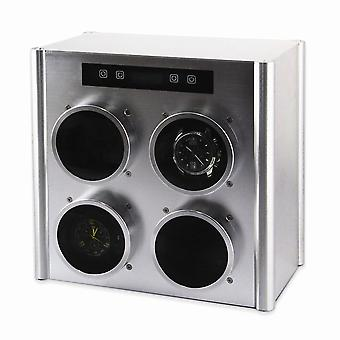 Rotations Silver Metal Quad Watch Winder