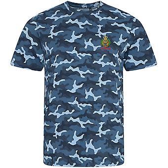 Real engenheiros veterano-licenciado British Army bordados camuflagem Print T-shirt