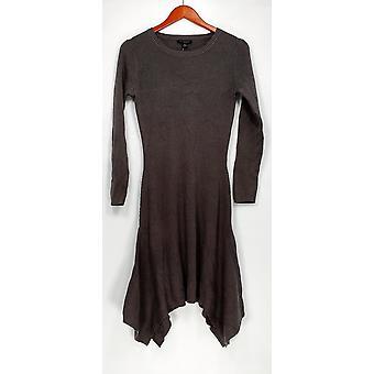 H door Halston jurk trui zakdoek hem Oyster grijs A281243