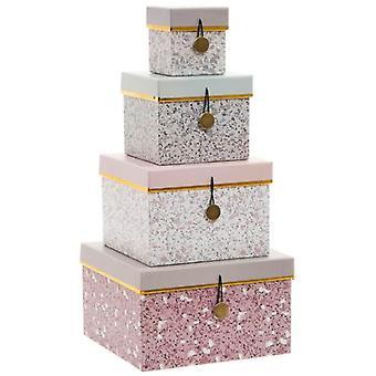 Wellindal Cardboard box September 4 metal 20x20x12 terrazzo