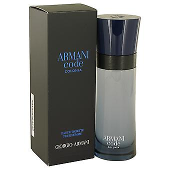 Armani Code Colonia door Giorgio Armani Eau De Toilette Spray 2.5 oz/75 ml (mannen)