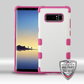 MYBAT Natural Cream White/Hot Pink TUFF Merge Hybrid Protector Cover   for Galaxy Note 8
