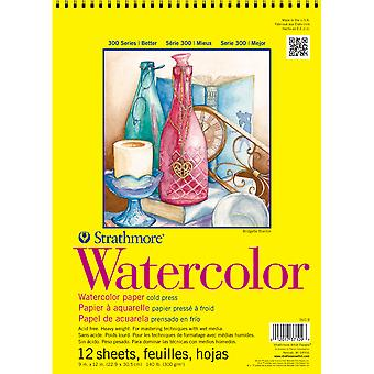 Strathmore Watercolor Spiral Paper Pad 9
