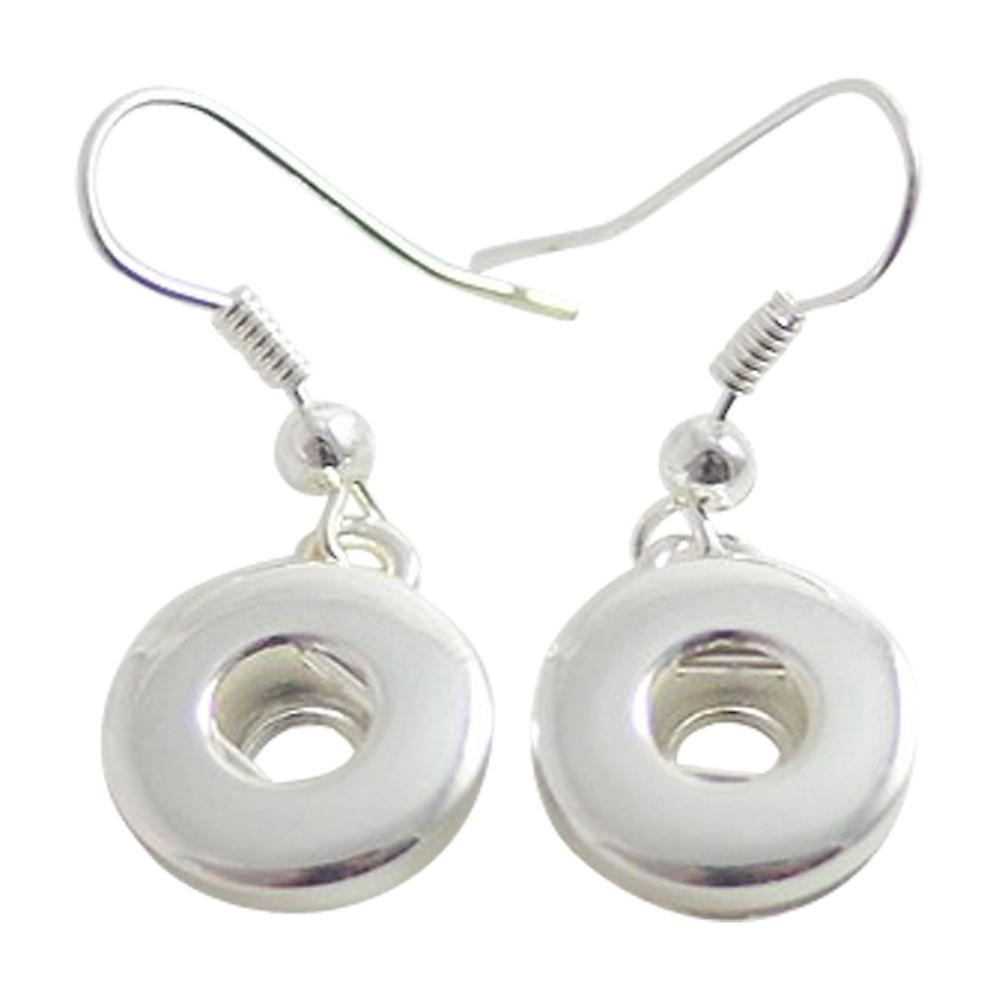 Silver plated earrings for mini click buttons KB0402-S
