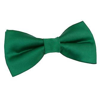 Plain Emerald Green Satin Bow Tie