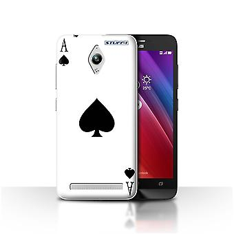 STUFF4 Case/Cover for Asus Zenfone Go ZC500TG/Ace of Spades/Playing Cards