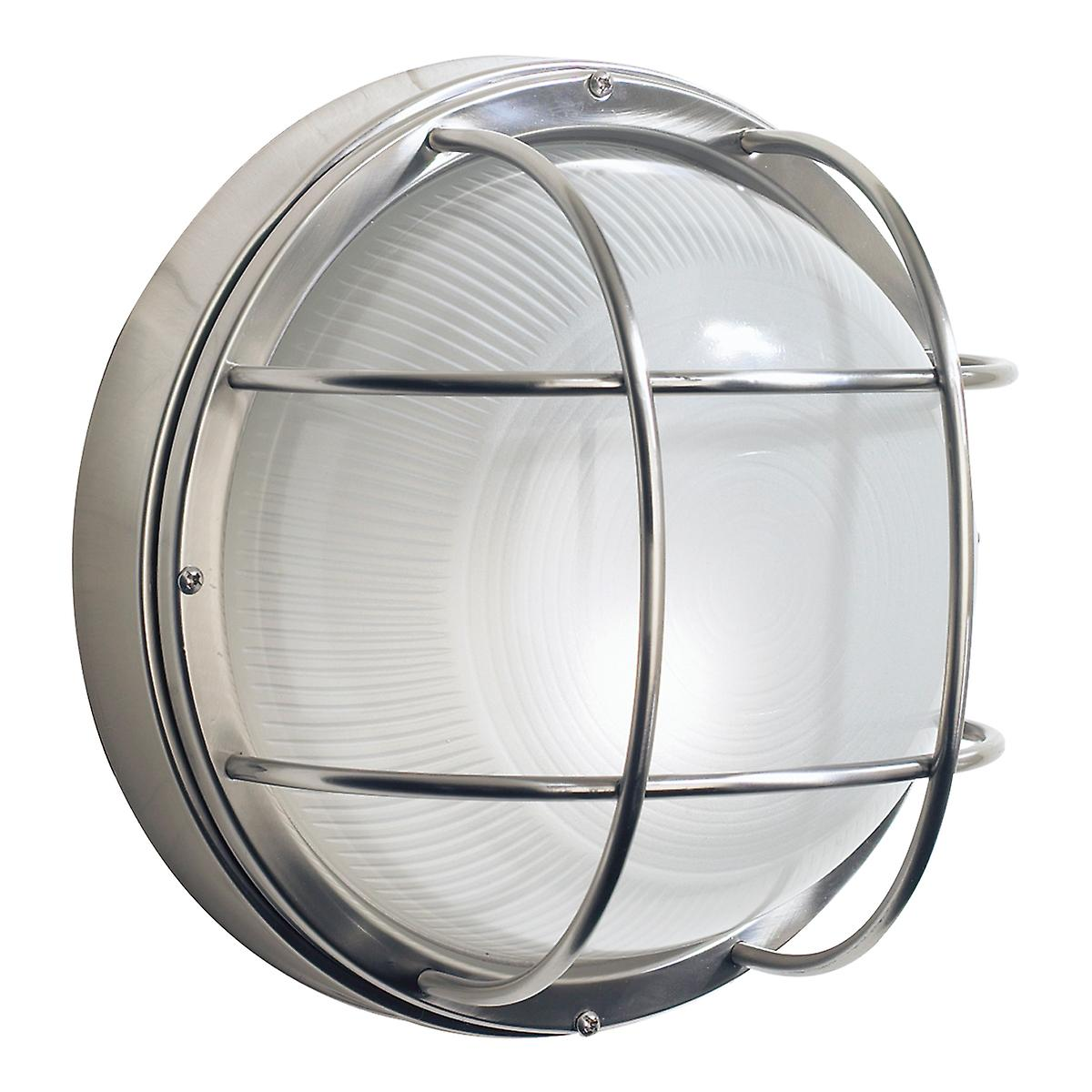 Dar SAL5044 Salcombe Large Round Steel Outdoor Wall Light