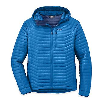 Outdoor Research Mens Verismo Hooded Down Jacket Glacier (Large)