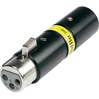XLR adapter XLR plug - XLR socket Hicon HI-X3X3-20-200 1 pc(s)