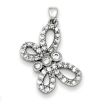 Sterling Silver Polished Cubic Zirconia Pendant
