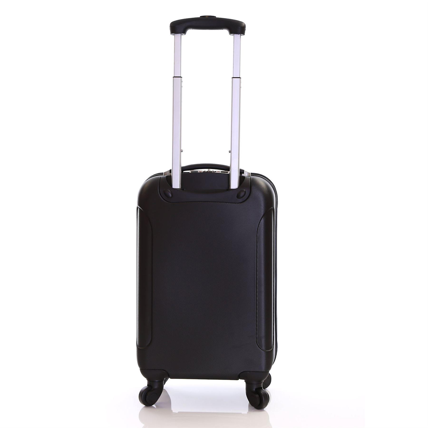 Karabar Evora 55 cm Hard Suitcase, Obsidian Black