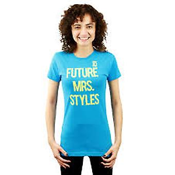 One Direction Future Mrs. Styles Printed Graphic Women's Casual Blue T-shirt