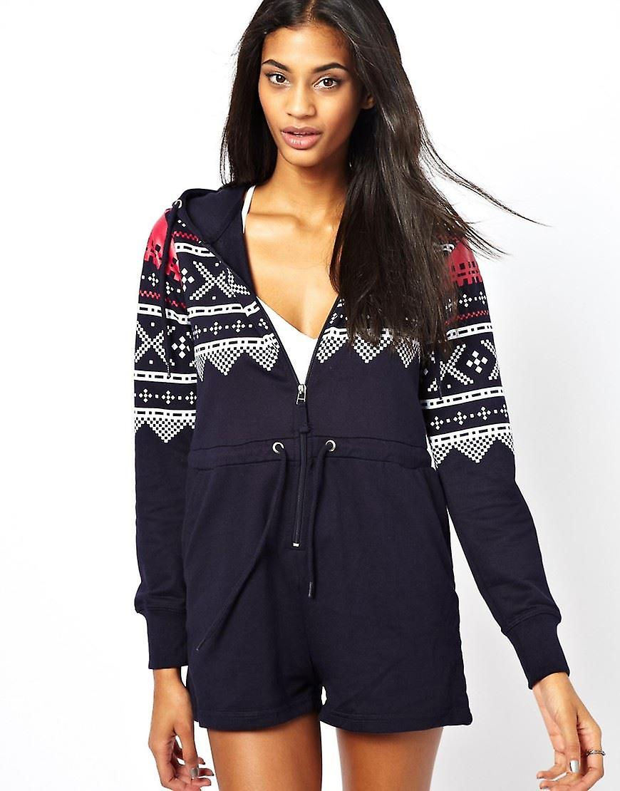 AX Paris Fairisle Short Playsuit UK SIZE-S