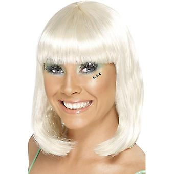 Party GoGo girl party wig medium long blonde wig
