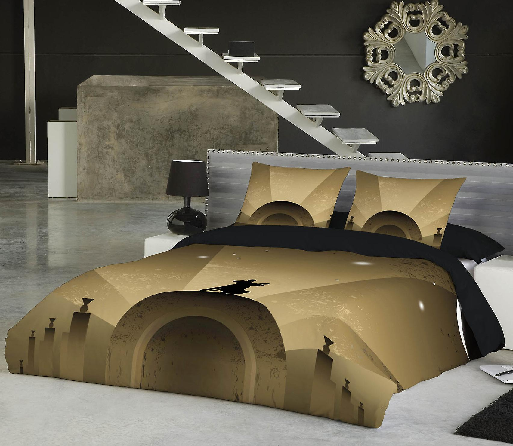 Fly me to the moon - bedspread uk superking us kingTaille
