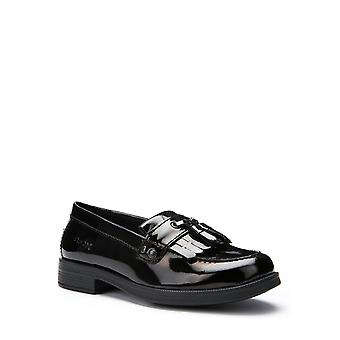Geox Geox Agata Girls Patent Leather Moccasin School Shoes