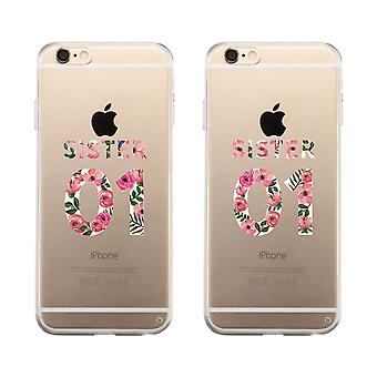 Sister 01 Cute Sister Matching Cases Best Birthday Gift For Sisters