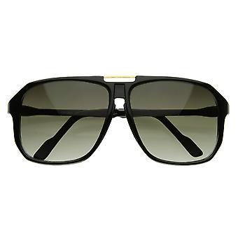 Keyhole Plastic Square Aviators Sunglasses