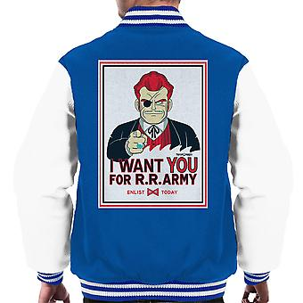 Commander Red Wants you Dragon Ball Men's Varsity Jacket