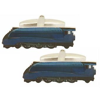 Zennor Train Cufflinks - Blue