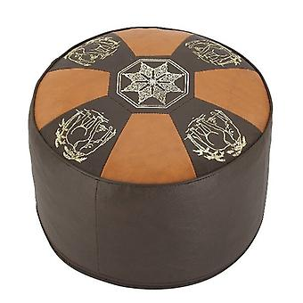 Seat cushion Orient bright / dark brown 50 x 34 cm
