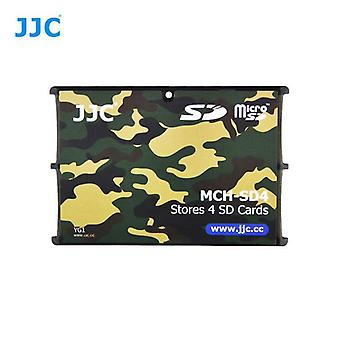 JJC Mini Memory Card Holder for 4 x SD, SDHC or SDXC Cards (Camouflage)