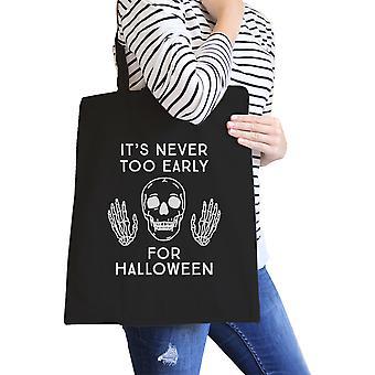 Nie auch später für Halloween Umhängetasche wiederverwendbare Canvas Tasche Geschenk