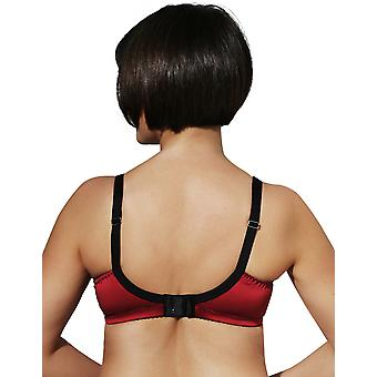 Womens Di Murini Red Satin with Black Lace Detail Ladies Mastectomy Bra