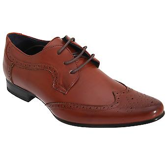 Route 21 Mens 3 Eyelet Brogue Gibson Shoes