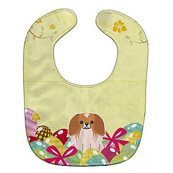 Carolines Treasures  BB6103BIB Easter Eggs Pekingnese Red White Baby Bib