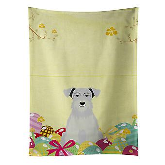 Easter Eggs Miniature Schanuzer White Kitchen Towel
