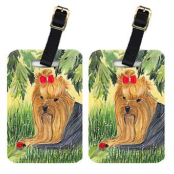 Carolines Treasures  SS8258BT Pair of 2 Yorkie Luggage Tags