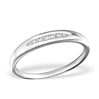 Band - 925 Sterling Silver Jewelled Rings - W26323X
