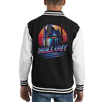 Transformers Optimus Prime Roll Out Kid's Varsity Jacket