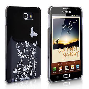 Samsung Galaxy Bemærk Butterfly hårdt Hybrid sag - sort